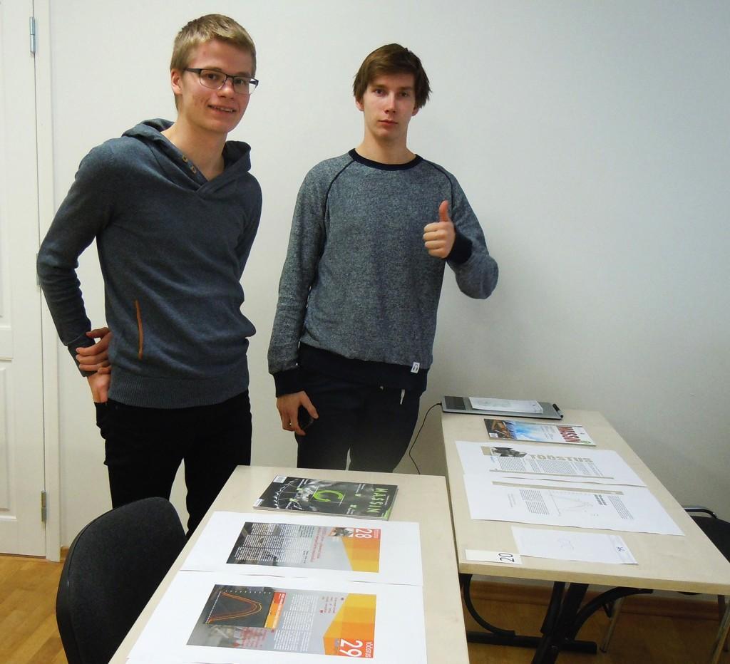 """Timo Arbeiter ja Jason Max Märk võistlusel """"Trükis 2014"""""""
