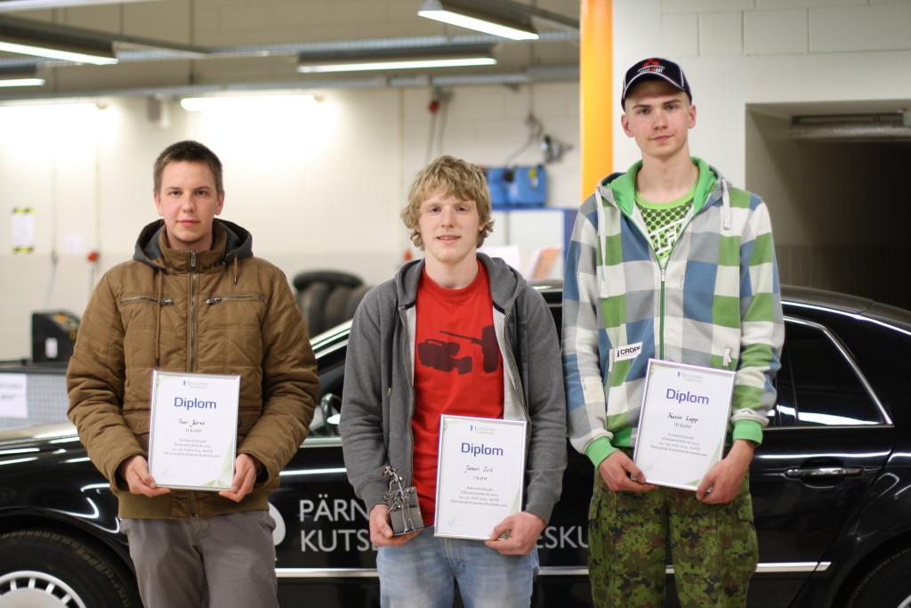 Võistluse Sõiduautotehnik 2015 võitjad. Foto - Innove